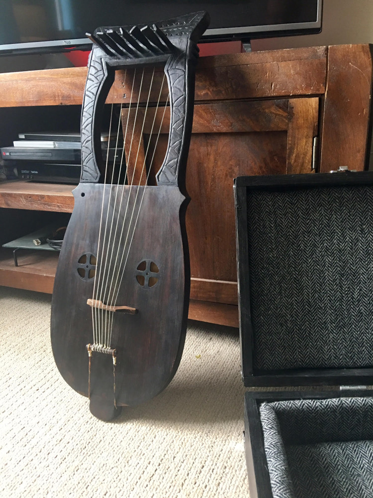 lyre with case