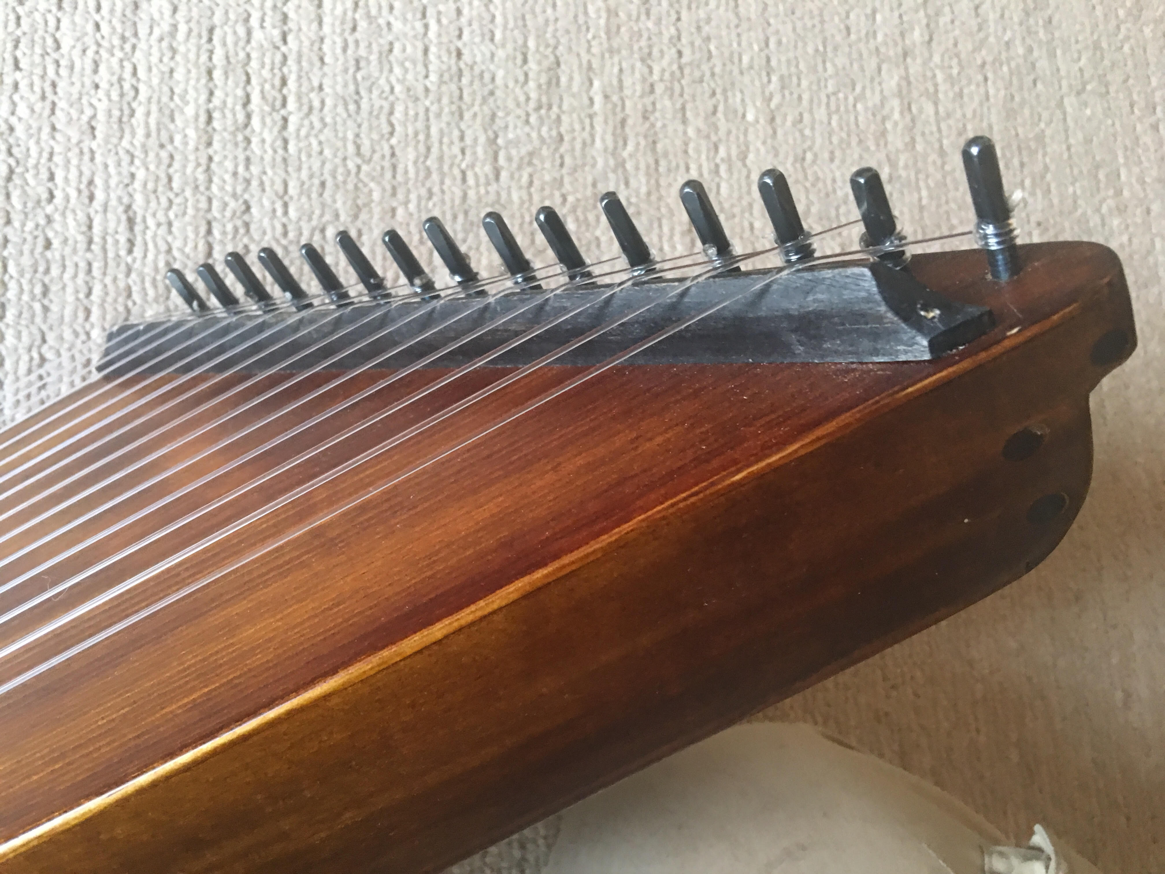 fluorocarbon stringed psaltery in G