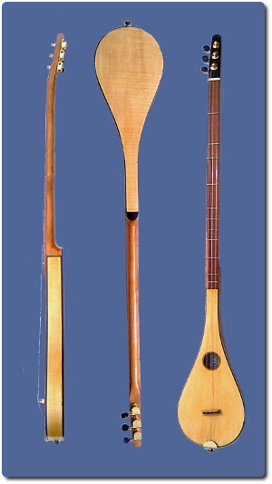 stick dulcimer in maple